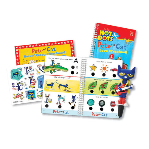 Educational Insights Hot Dots Jr. Pete the Cat - I Love Preschool! Set with Pete Pen