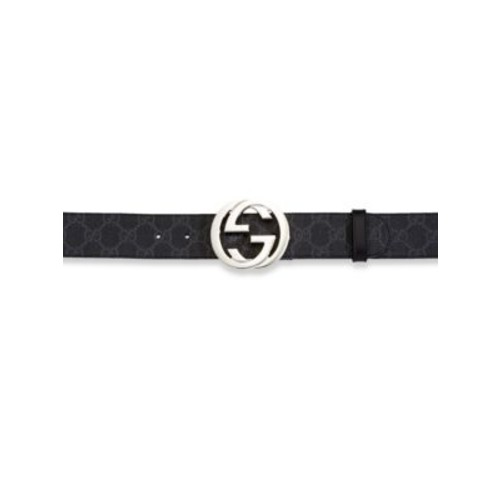 GUCCI Interlocking Gg Signature Canvas Belt