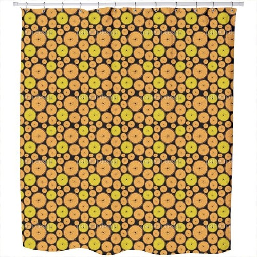 Wood Slices Shower Curtain
