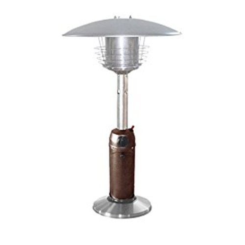 AZ Patio Heaters HLDS032-BB Portable Table Top Stainless Steel Patio Heater, Hammered Bronze Finish : Portable Outdoor Heating : Garden & Outdoor [Hammered Bronze, Classic]