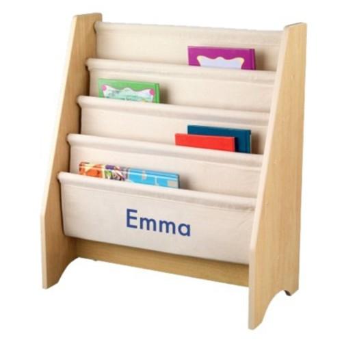 Kidkraft Natural Sling Bookshelf - Blue Emma