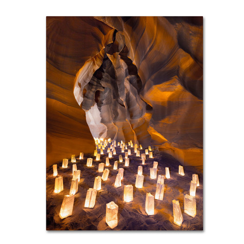 Trademark Global Moises Levy 'Candle Canyon I' Canvas Art [Overall Dimensions : 14x19]