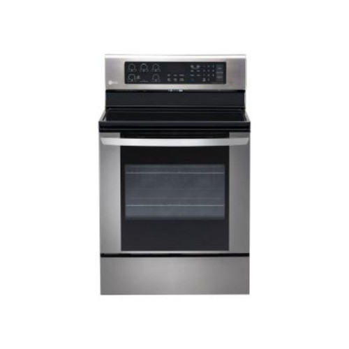 LG Electronics 6.3 cu. ft. Electric Range with EasyClean Convection Oven in Stainless Steel