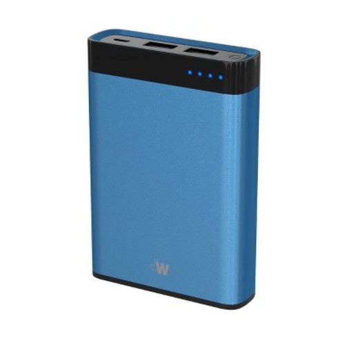 Portable Power Bank 10,000 mAh Blue - Just Wireless