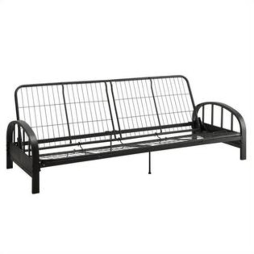 Dorel DHP Aiden Convertible Futon Sofa Frame in Black
