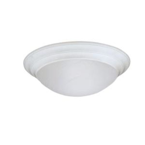 Designers Fountain Clovis Collection 2-Light Solid White Ceiling Flushmount