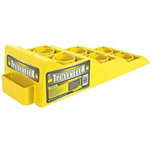 Camco Yellow Drive On Tri-Leveler, Raises Your RV Up by 3-7/8