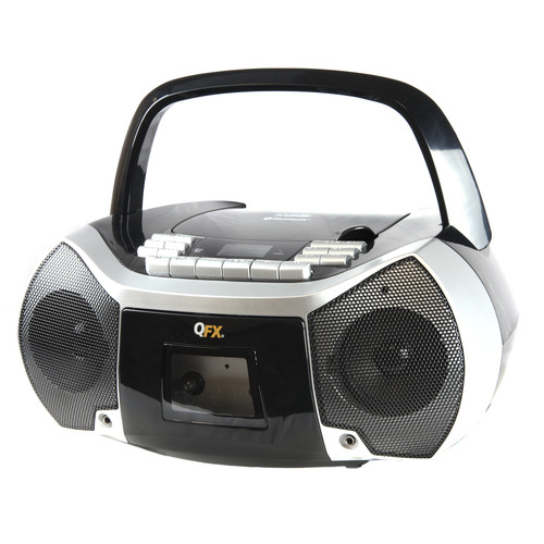 Quantum FX 97096447M Portable Boombox with Bluetooth, AM/FM Radio, CD/MP3 Player, Cassette Recorder and Headphone Jack