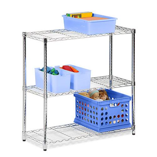 Honey-Can-Do SHF-01903 3-Tier Chrome Steel Urban Adjustable Storage Shelving Unit, Chrome
