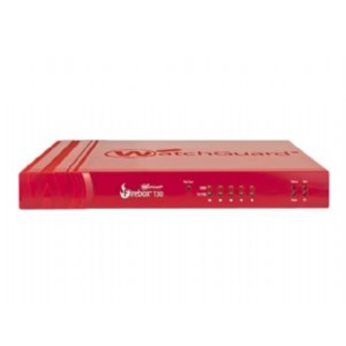 WatchGuard Firebox T30 - Security appliance - with 1 year Standard Support - 5 ports - 10Mb LAN, 100Mb LAN, GigE (WGT30001-US)