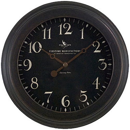 Black Onyx Wall Clock