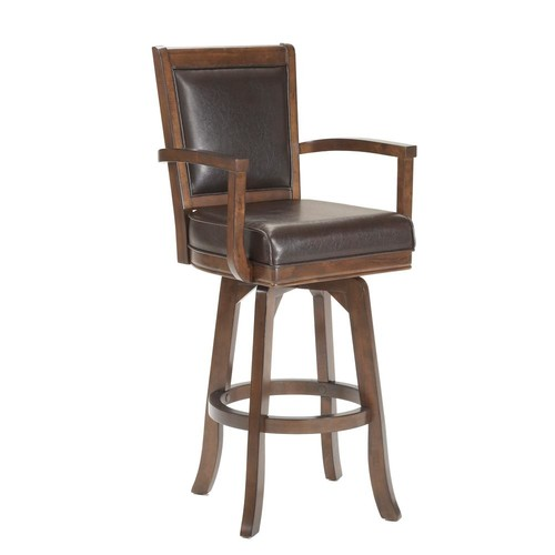 Hillsdale Furniture Ambassador 26 in. Rich Cherry Cushioned Bar Stool