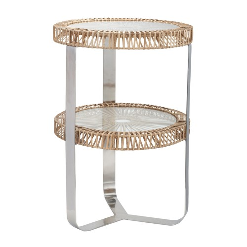 Natural Split Rattan Side Table design by Lazy Susan
