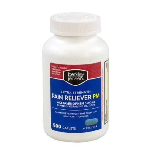 Berkley & Jensen Bulk Extra Strength Pain Reliever PM, 500 Count