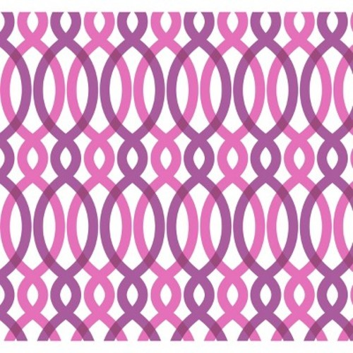 Devine Color Scroll Peel & Stick Wallpaper - Pink