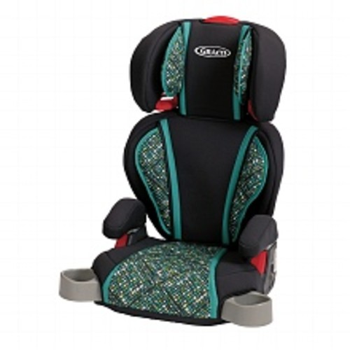 Graco Highback Turbo Booster Car Seat Grey & Teal Mosiac