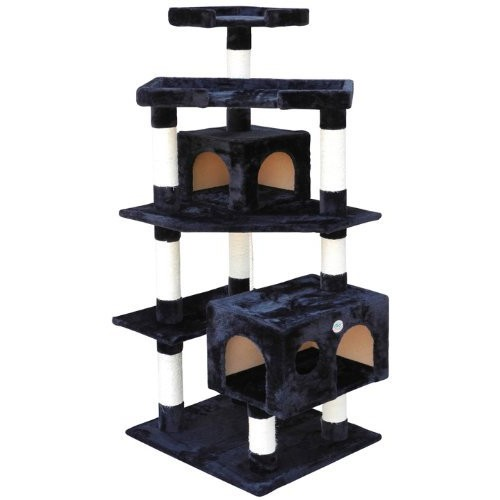 Go Pet Club F2023 Cat Tree Condo Scratcher Post Pet Bed Furniture : Cat Houses And Condos : Pet Supplies