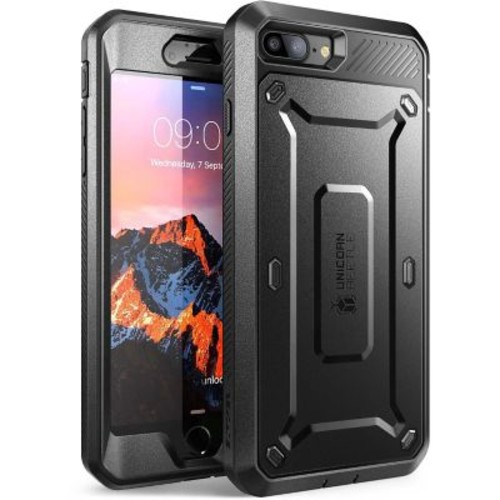 SUPCASE Apple iPhone 7 Unicorn Beetle Pro Series Fullbody Protective Case with Screen and Holster - Black/Black (752454312924)
