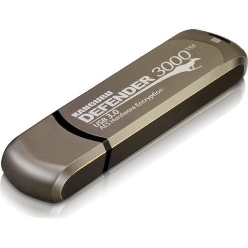 Kanguru Defender3000 128GB SuperSpeed USB 3.0 Hardware Encrypted USB Flash Drive