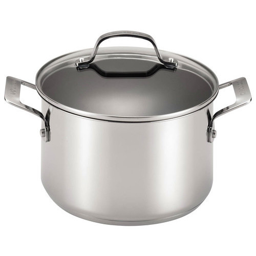 Circulon - Genesis 5-Quart Covered Dutch Oven - Stainless-Steel