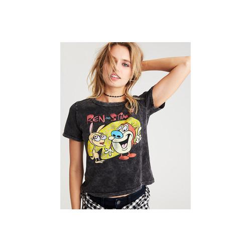 AEO Ren & Stimpy Shrunken Graphic T-Shirt