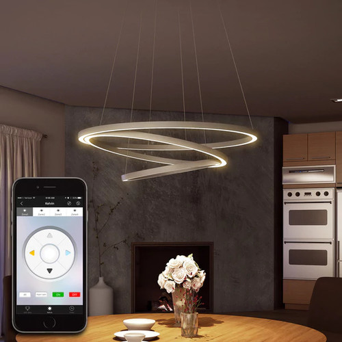 Tania Trio VTC3331AL 31.5-inch WiFi-enabled Tunable-white LED Chandelier by VONN Lighting Vision Series