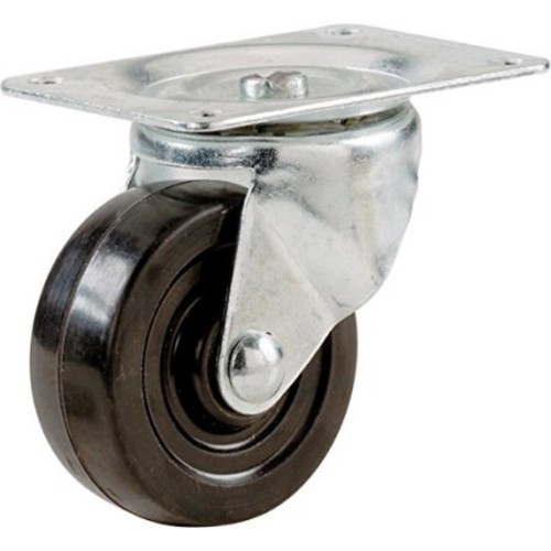 Shepherd 1-1/4 in. Soft Rubber Swivel Plate Caster with 30 lb. Load Rating