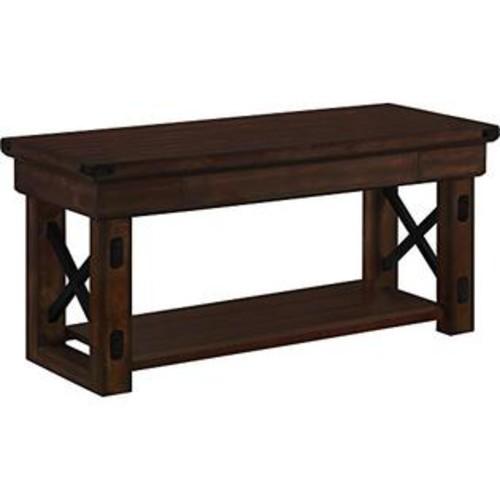 Altra Furniture Altra Wildwood Wood Veneer Entryway Bench, Mahogany