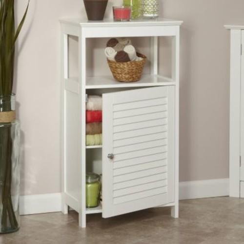 RiverRidge Home Ellsworth Single Door Floor Cabinet, White