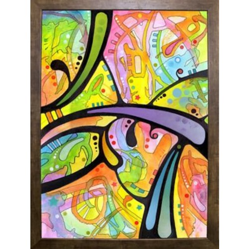 East Urban Home 'Abstract' Graphic Art Print; Cafe Mocha Framed