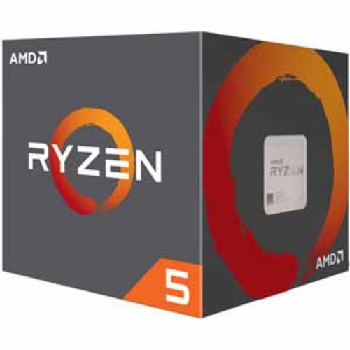 AMD Ryzen 5 1600 Processor 6 Cores / 12 Threads 19MB Cache 3.6 GHz Precision Boost with Wraith Spire Cooler AM4