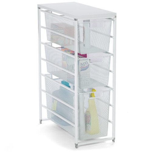 White elfa Mesh Laundry Storage