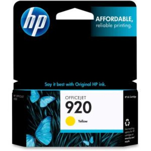 HP 920 Original Ink Cartridge - Yellow - Inkjet - 300 Page - 1 / Pack
