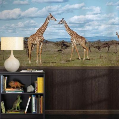 National Geographic 72 in. H x 48 in. W Giraffes Wall Mural