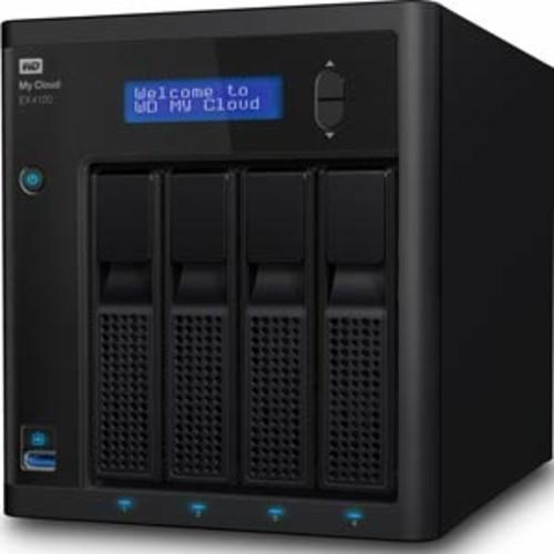 WD 16TB My Cloud Expert Series EX4100 NAS Storage : WDBWZE0160KBK-NESN