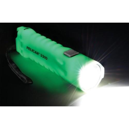 Pelican 033100-0100-247 234-Lumen 3310PL ProGear Waterproof LED Photoluminescent Flashlight