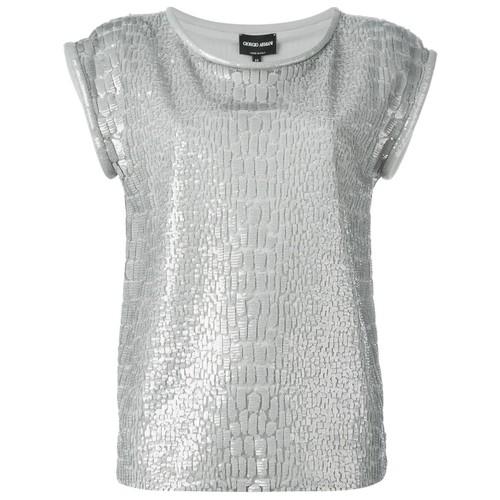GIORGIO ARMANI Sequin Embellished T-Shirt