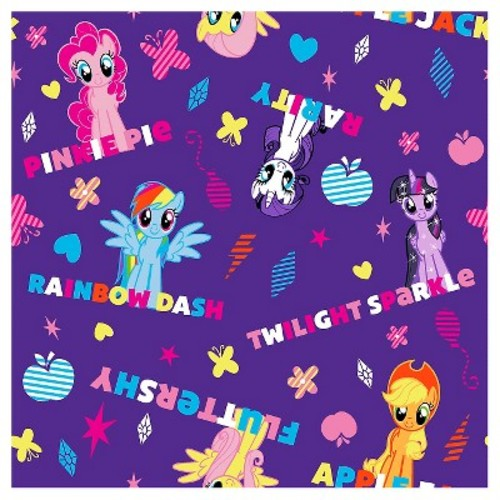 My Little Pony Ponies and Names Fabric