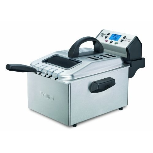 Waring Pro DF280 Professional Deep Fryer, Brushed Stainless [DISCONTINUED] [Waring Deep Fryer]