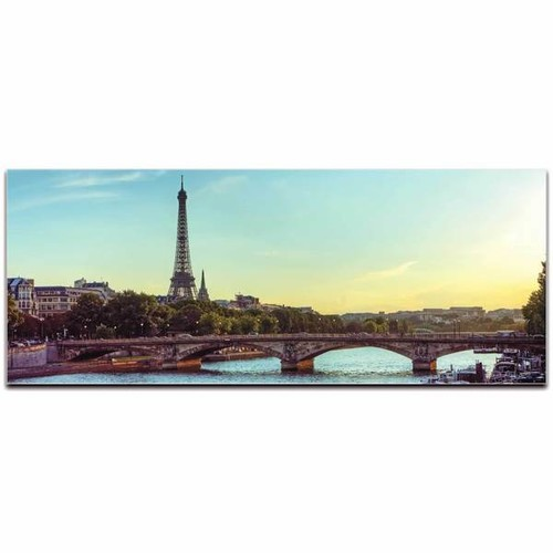 Modern Crowd 'Paris Classic City Skyline' Urban Cityscape Enhanced Photo Print on Metal or Acrylic [option : Metal Gicle (Matte Finish)]