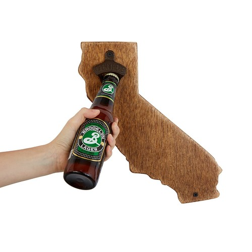 Wall Mounted State Bottle Opener [California]