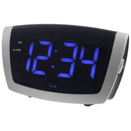 La Crosse Technology Jumbo Blue LED Alarm Clock with USB Charging
