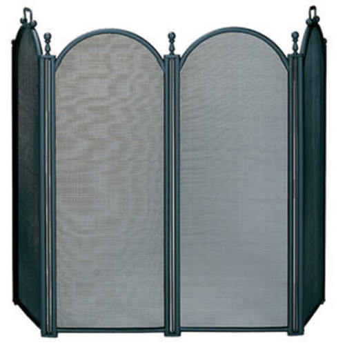 UniFlame S-3650 4 Fold Large Diameter Black Screen with Woven Mesh