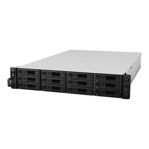 Synology RackStation RS2416RP+ - NAS server - 12 bays - rack-mountable - SATA 6Gb/s - RAID 0, 1, 5, 6, 10, JBOD, 5 hot spare, 6 hot spare, 10 hot spare, 1 hot spare - RAM 2 GB - Gigabit Ethernet - iSCSI - 2U (RS2416RP+)
