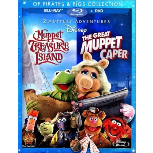 2 Muppety Adventures: The Great Muppet Caper/ Muppet Treasure Island (Blu-ray + DVD)