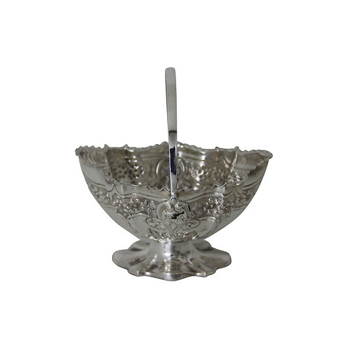 Silver-Plate Candy Basket, C.1875