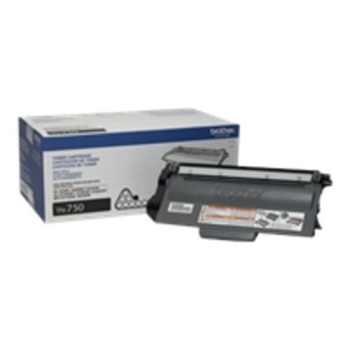 Brother Genuine TN750 High Yield Mono Laser Toner Cartridge - Laser - High Yield - Black - 1 Each