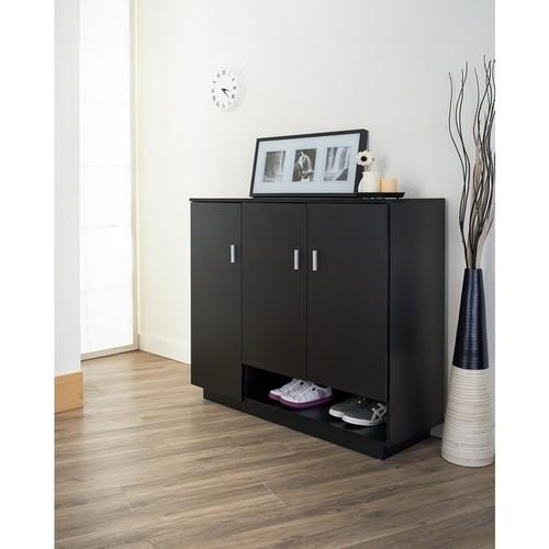 Furniture of America Ryanthe Black Multi-Functional Cabinet