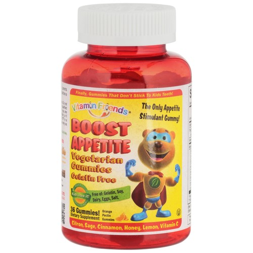 Vitamin Friends Boost Appetite Orange Flavor Pectin Vegetarian Gummies Dietary Supplement, 36 count