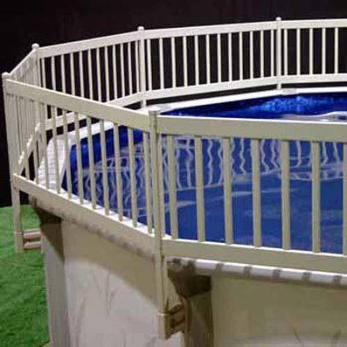 Vinyl Works Above Ground Pool Fence Kit (3 Section) - Taupe